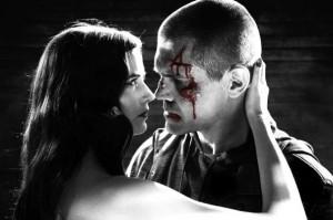 Josh Brolin et Eva Green dans Sin City : J'ai tue pour Elle de Robert Rodriguez et Frank Miller