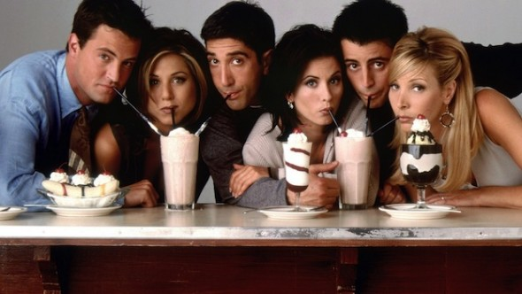Série Friends - Matthew Perry, Jennifer Aniston, David Schwimmer, Courteney Cox, Matt LeBlanc et  Lisa Kudrow)
