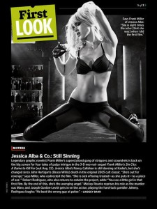 Jessica Alba (Nancy Callahan) dans Sin city 2 - Photo EW
