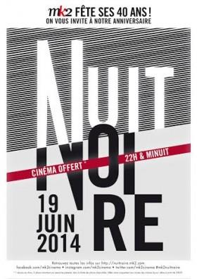 Poster soirée 'Nuit Noire' MK2