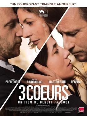 3 Coeurs de Benoit Jacquot - affiche