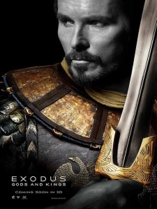Christian Bale (Moise) - Exodus - Gods and Kings / affiche