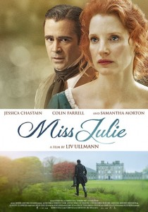 Mademoiselle Julie (Miss Julie) de Liv Ullmann - affiche
