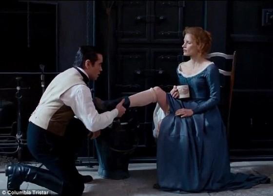 Colin Farrell et Jessica Chastain – Mademoiselle Julie de Liv Ullmann – © Pretty Pictures