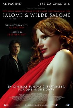 Salome et Wilde Salome realises par Al Pacino - affiche UK