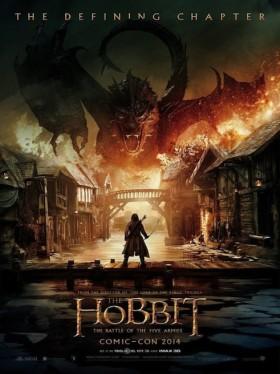 The Hobbit : la Bataille des Cinq Armées de Peter Jackson - affiche