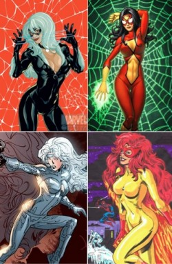 Black Cat, Spider-Woman, Silver Sable, Firestar - les quelques super héroïnes dans l'Univers de Spider-Man
