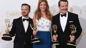 Aaron Paul, Anna Gunn et Bryan Cranston - Breaking Bad Emmy Awards 2014