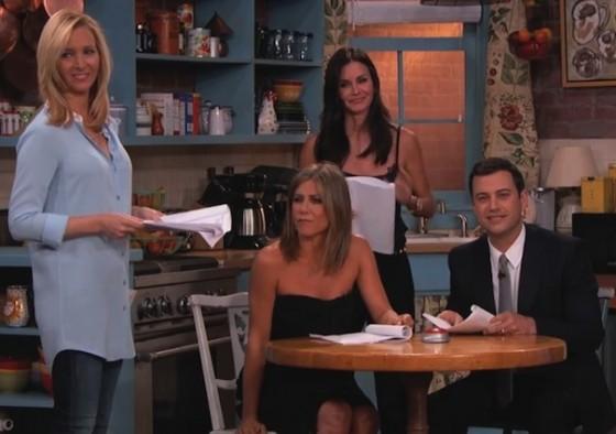 Jennifer Aniston, Lisa Kudrow Courteney Cox et Jimmy Kimmel - Friends dans Jimmy Kimmel Live