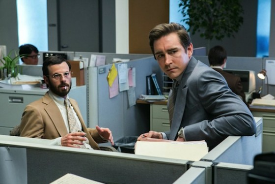 Lee Pace (Joe MacMillan) et Scoot McNairy (Gordon Clark) - Halt and Catch Fire - AMC