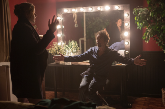 Al Pacino et Greta Gerwig dans The Humbling