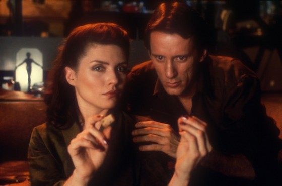 James Woods et Deborah Harry dans Vidéodrome de David Cronenberg