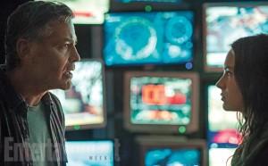 George Clooney et Brit Robertson dans Tomorrowland de Brad Bird