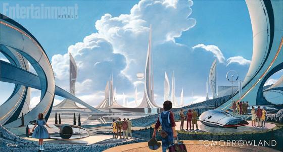 Tomorrowland de Brad Bird - concept art de l'artiste concepteur Syd Mead