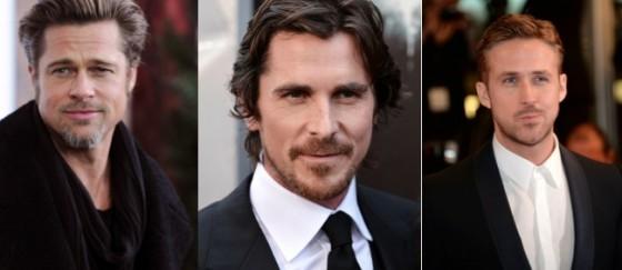 Brad Pitt, Christian Bale et Ryan Gosling