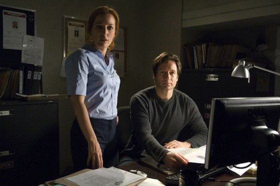 Gillian Anderson et David Duchovny dans X-Files