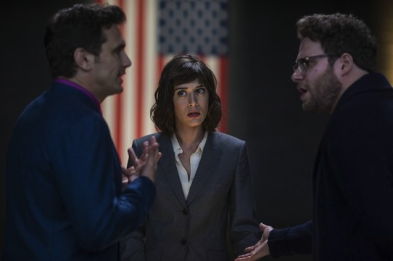 James Franco, Lizzy Caplan et Seth Rogen dans L'interview qui tue