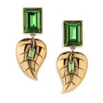 Atelier Swarovski by Sandy Powell Leaf Earrings - Green