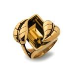 Atelier Swarovski by Sandy Powell Leaf Ring - Gold