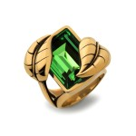 Atelier Swarovski by Sandy Powell Leaf Ring - Green