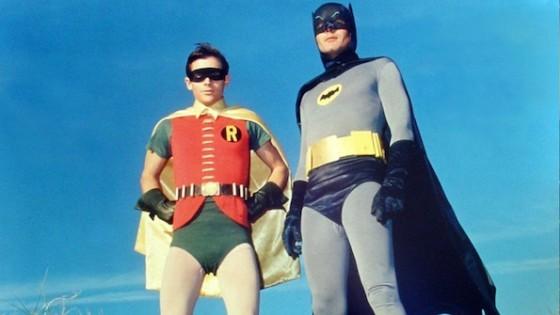 Adam West et Burt Ward dans la serie populaire Batman diffusee sur ABC a partir du 12 janvier 1966