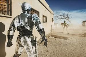Robocop vs Boba Fett par Daniel Picard - Expo Bang Bang - Galerie Sakura