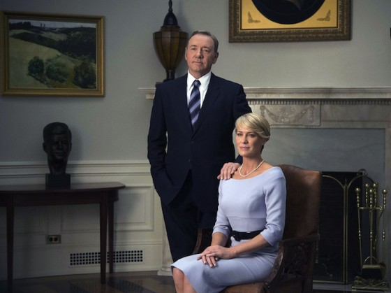 Kevin Spacey et Robin Wright dans House of Cards (saison 3)