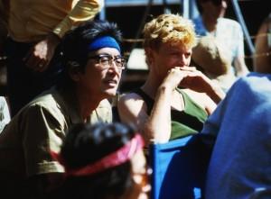 Nagisa Oshima et David Bowie sur le tournage de Furyo