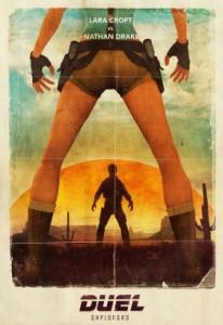 Lara Croft vs Nathan Drake par Richard Tran - Expo Bang Bang - Galerie Sakura