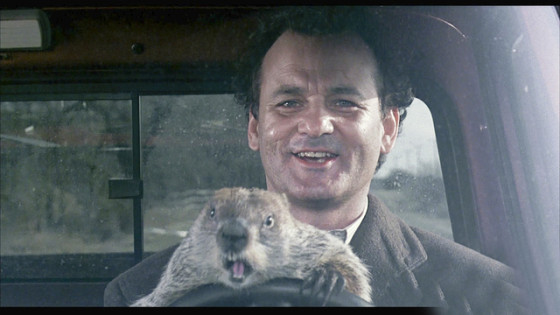 Bill Murray dans Un jour sans fin (Groundhog Day)