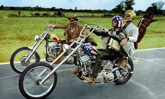 Dennis Hopper, Peter Fonda et Jack Nicholson - Easy Rider (1969)