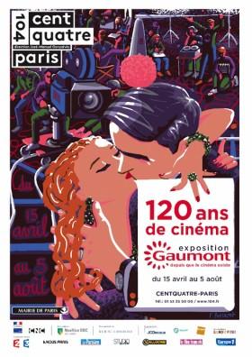 Exposition 120 de Cinema Gaumont - affiche