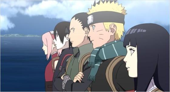 L'équipe de Naruto dans Naruto the Last de Tsuneo Kobayashi