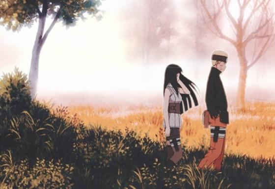 Naruto et Hinata dans Naruto the Last de Tsuneo Kobayashi