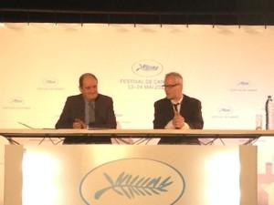 Thierry Fremaux et Pierre Lescure - Conference de presse Cannes 2015