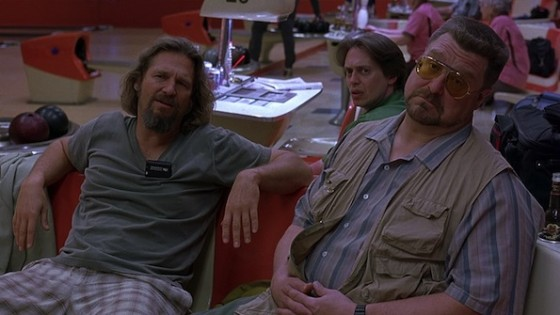 Jeff Bridges, Steve Buscemi et John Goddman dans The Big Lebowski de Joel et Ethan Coen