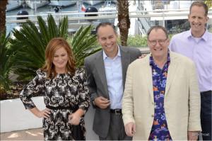 Une partie de l'Equipe de Vice Versa avec Pete Doctor, Amy Poelher et John Lasseter