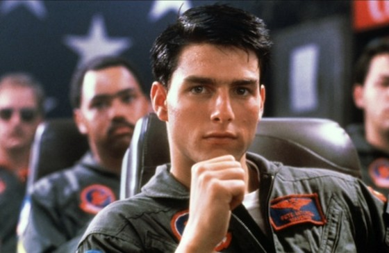 Tom Cruise dans Top Gun de Tony Scott