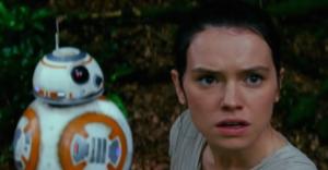 Daisy Ridley (Rey) dans Star Wars 7 - Le Reveil de la Force