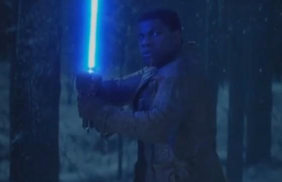 John Boyega (Finn) dans Star Wars 7 - Le Reveil de la Force