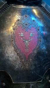 Détail de l'armure de Stannis Baratheon - Expo GoT