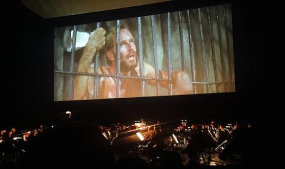 Cine-concert de La Planete des Singes, compose par Jerry Goldsmith, au Royal Festival Hall de Southbank Centre a Londres
