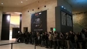 File d'attente de l'expo Game of Thrones