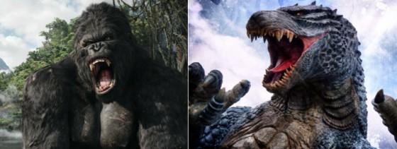 Godzilla vs King Kong dans les tuyaux hollywoodiens