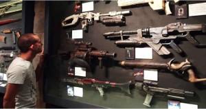 Differentes armes de science-fiction