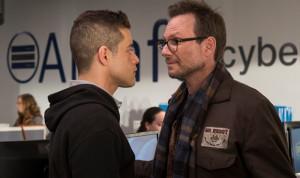 Rami Malek et Christian Slater dans Mr Robot