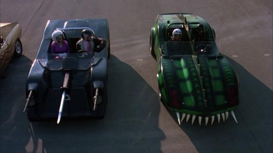 Roger Corman à la production de Death Race 2050 / photo La Course à la mort de l'an 2000 (Death Race 2000)