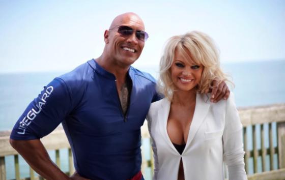 Dwayne Johnson et Pamela Anderson - Courtesy Instagram, Dwayne Johnson