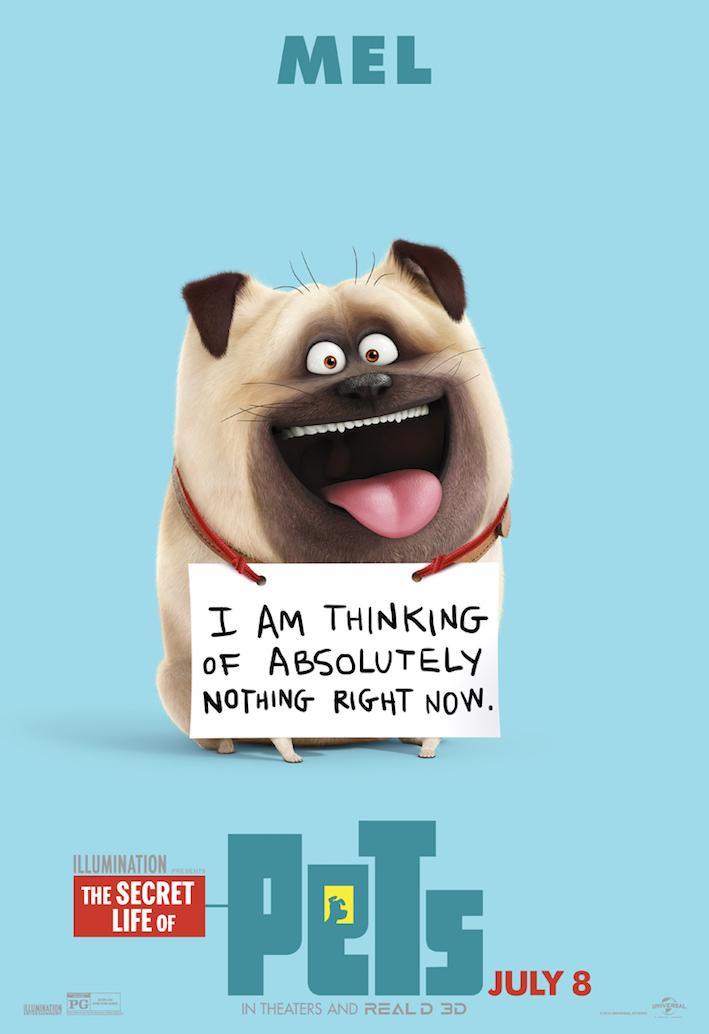Neuf posters des personnages de Comme des bêtes