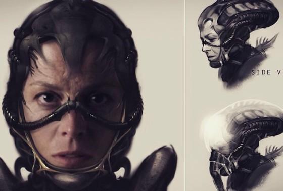 Sigourney Weaver - test Alien 5 de Neill Blomkamp